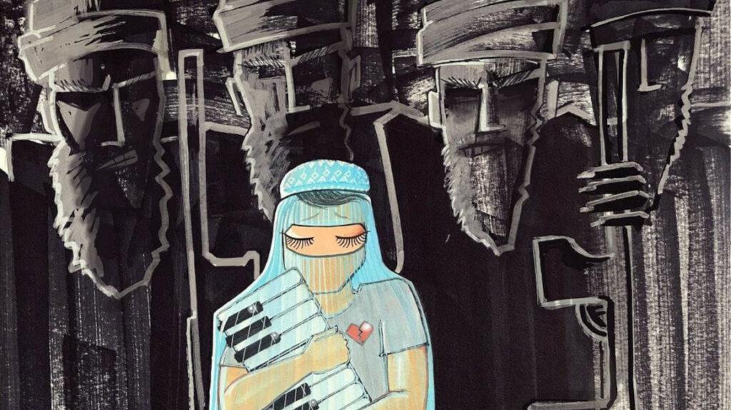 Shamsia Hassani retrata la vida de las mujeres afganas sobre los muros de Kabul