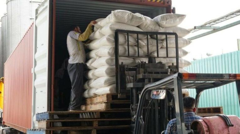 Un cargamento de arroz se exportó a Guatemala el 12 de septiembre de 2021.