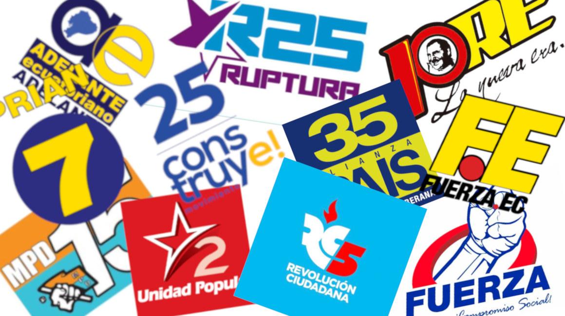 Las banderas políticas son símbolos reciclables en Ecuador.