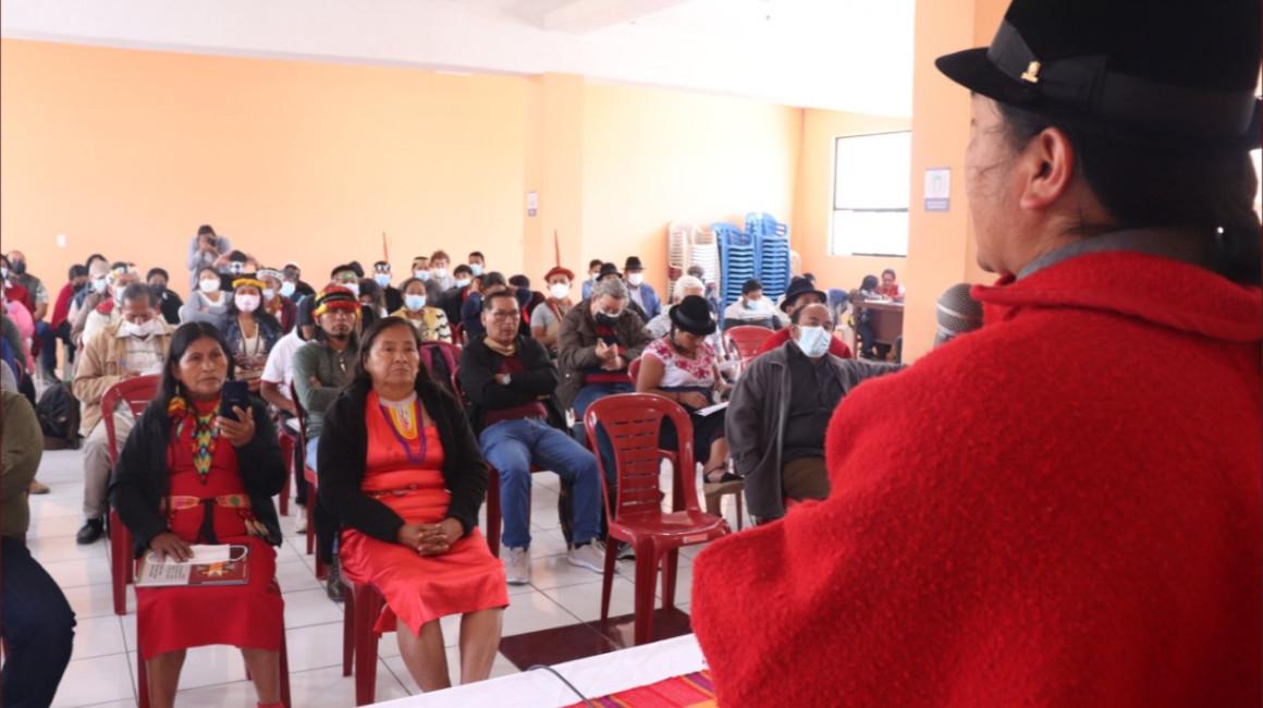 El consejo de gobierno de la Conaie se reunió en Quito, el 17 y 18 de septiembre de 2021.