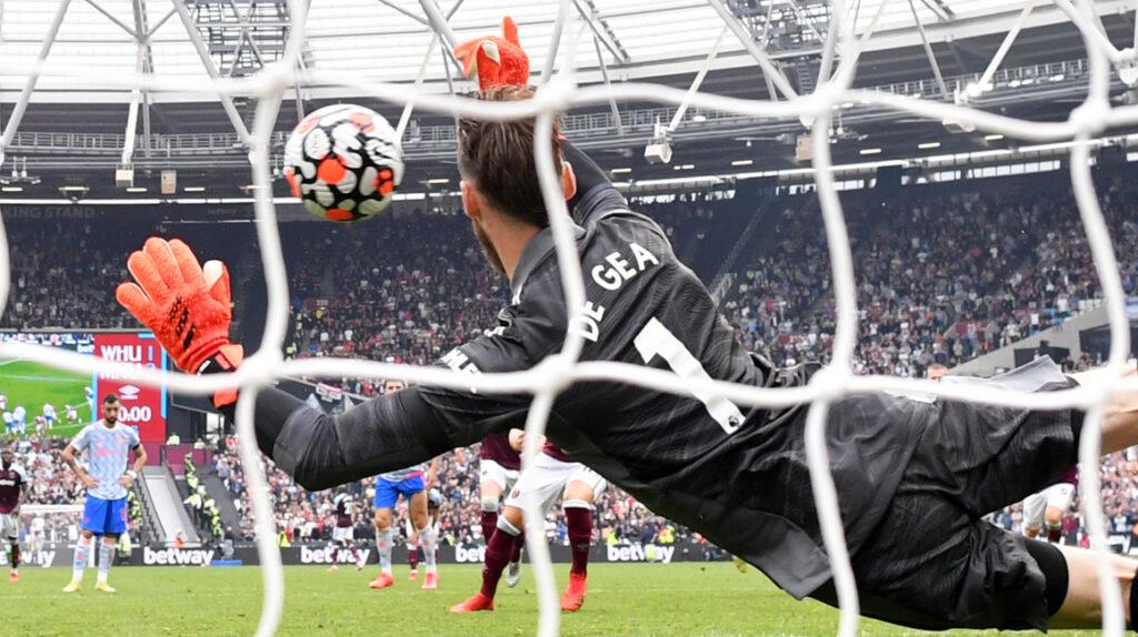 De Gea salva los tres puntos para el Manchester United ante el West Ham