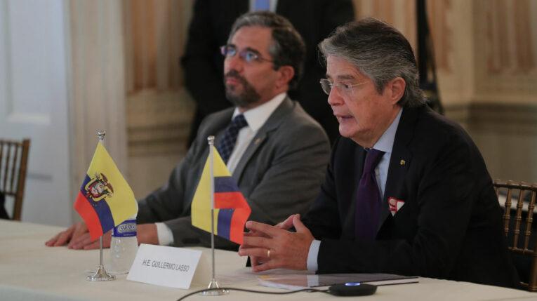El presidente Guillermo Lasso mantuvo una reunión con empresarios e inversionistas en Nueva York, 20 de septiembre de 2021.