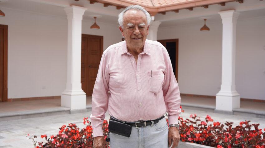 Fernando Madera, en la nueva sede del CATI, en Ibarra.