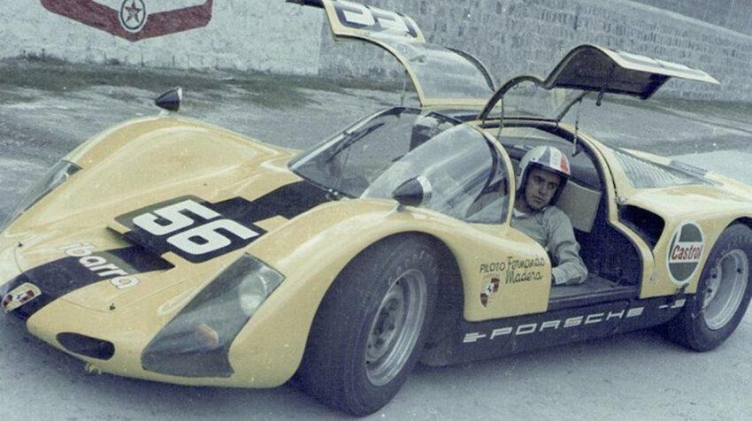 Fernando Madera, en el Porsche Carrera 6 que utilizó en las 12 Horas Marlboro.