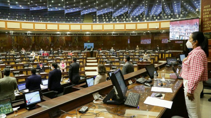 Ambiente de la sesión de pleno de la Asamblea Nacional, el 16 de septiembre de 2021.