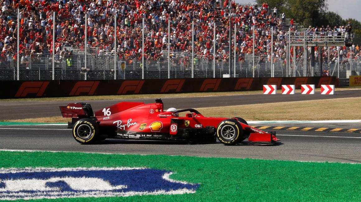 Charles Leclerc, durante el Gran Premio de Italia, en Monza, el 12 de septiembre de 2021.