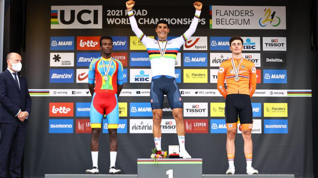 Filippo Baroncini se proclama campeón mundial de ruta Sub 23