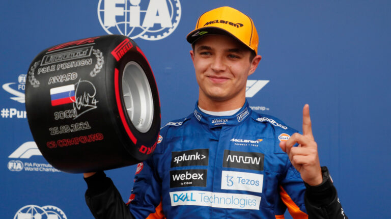 Lando Norris saldrá primero en el Gran Premio de Rusia