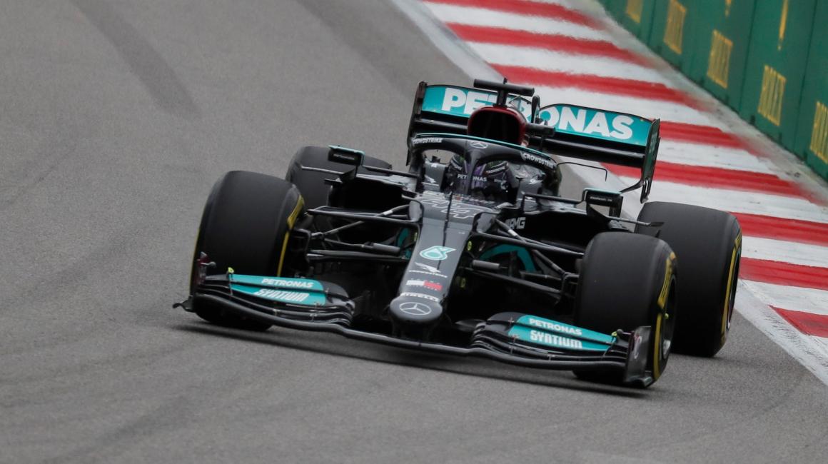Lewis Hamilton, durante el Gran Premio de Rusia, en Sochi, el 26 de septiembre de 2021.