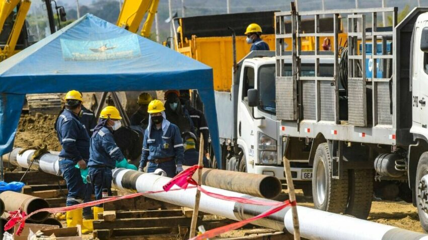 Un tramo del poliducto Santo Domingo - Pascuales de 200 metros fue reparado.