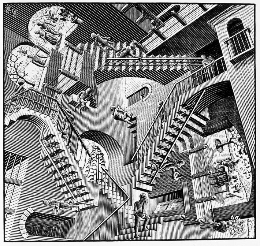 'Relatividad', 1953. M. C. Escher.