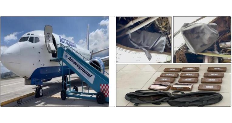 El 13 de octubre de 2021, Antinarcóticos descubrió dos maletas en el tren de aterrizaje de un avión de Aeroregional, que iba a volar de Latacunga a México.