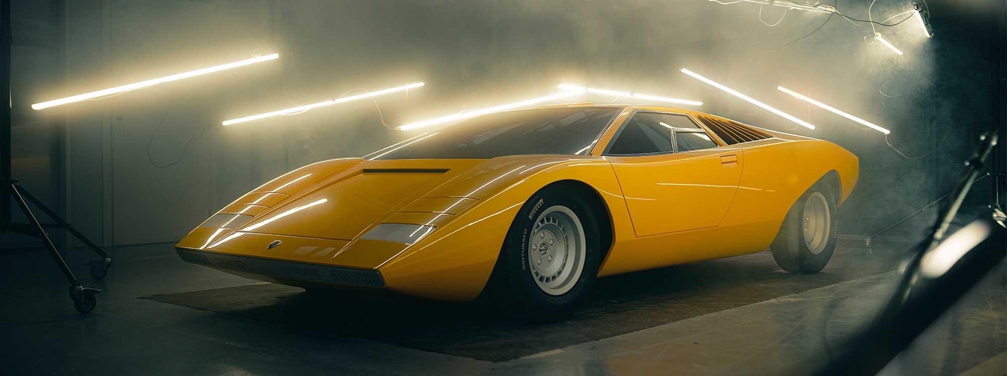 La reconstrucción del primer Lamborghini Countach
