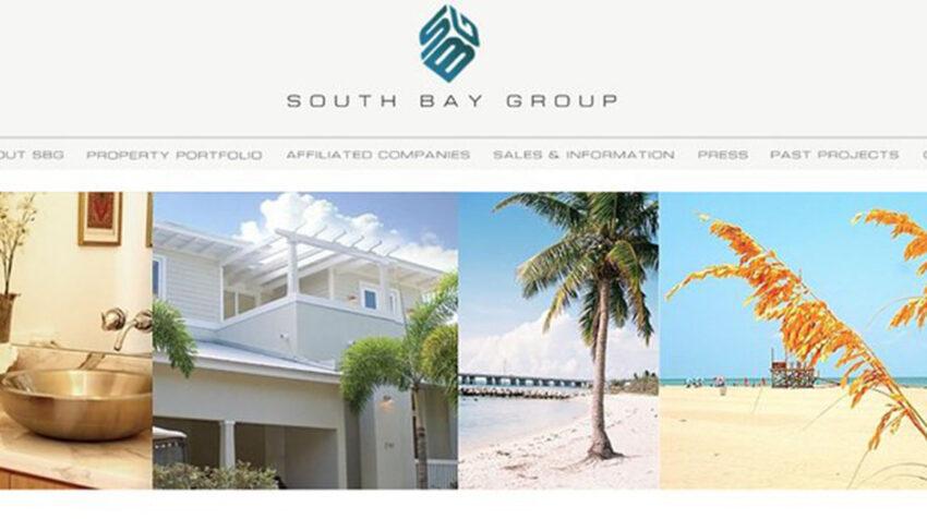 Captura de pantalla de la web de South Bay, que supuestamente desarrollaba proyectos inmobiliarios.