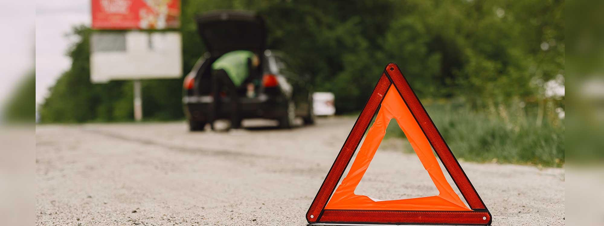 Siempre listo en caso de un desperfecto en las carreteras