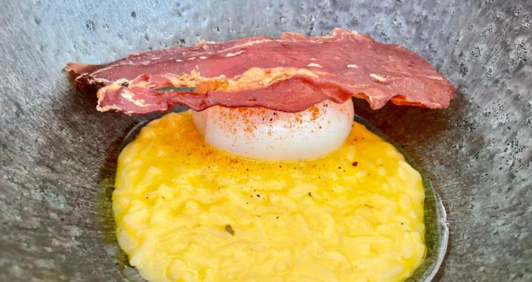 Arroz con huevo, en el restaurante 3500.
