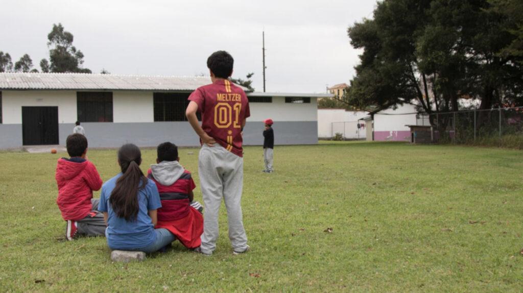 Niños y jóvenes de 10 países viven en las casas de acogida de Ecuador