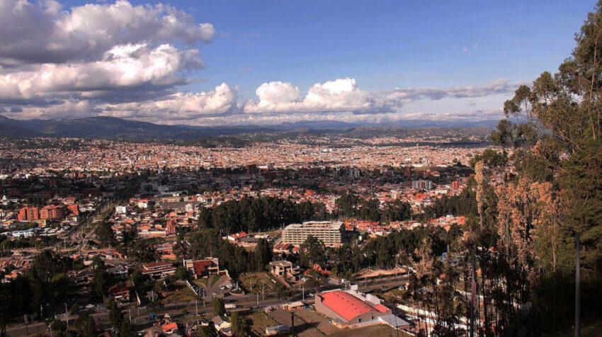 Vista panorámica de la parroquia Yanuncay, en Cuenca.