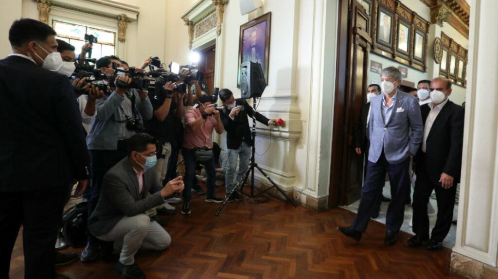 El presidente Lasso intenta apuntalar su estrategia de comunicación