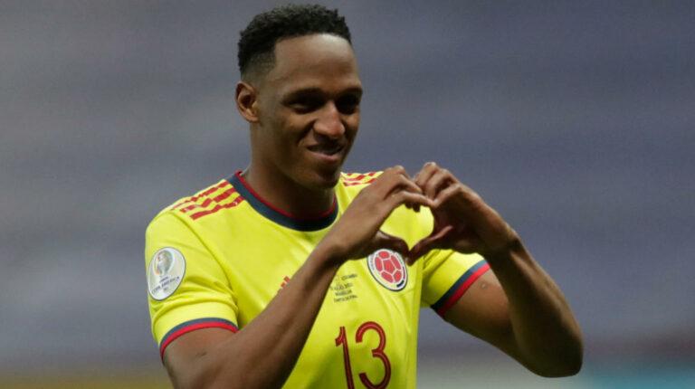 A Yerry Mina le quitan lo bailado: así se festejó el empate de Ecuador en las redes