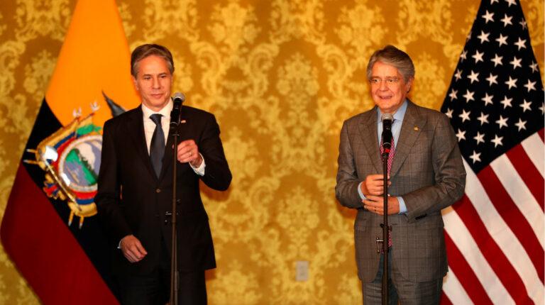 El presidente Lasso se reúne en Carondelet con el secretario Antony Blinken