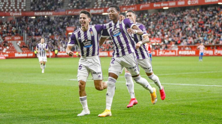 Gonzalo Plata marca su primer gol en la victoria del Valladolid ante el Gijón