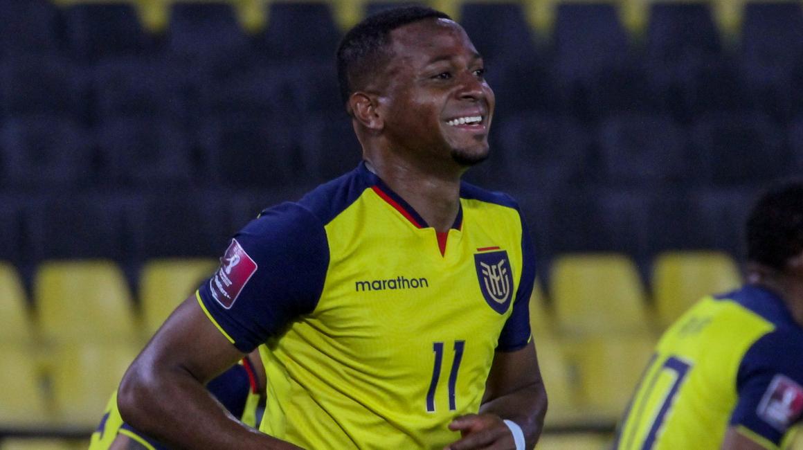 Michael Estrada, en el partido de Ecuador ante Bolivia, en Guayaquil, el 7 de octubre de 2021.