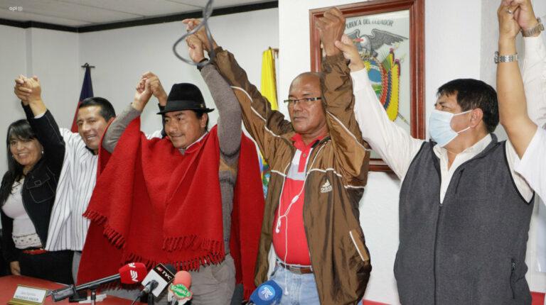 Indígenas y trabajadores se volvieron a unir para protestar contra el Gobierno
